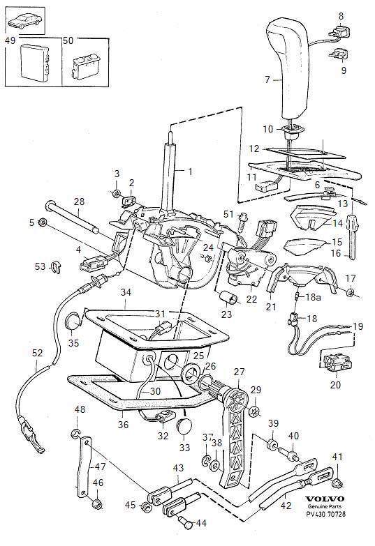 1994 Volvo 960 Gear shift lever knob. Gearshift, Control