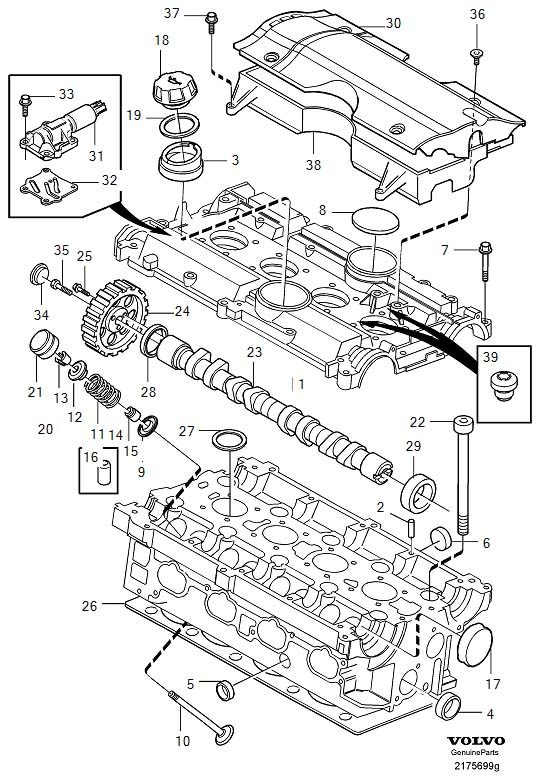 2001 Volvo V40 2.0l 4 cylinder Turbo Engine Intake Valve