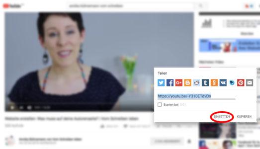 YouTube Video DSVGO sicher einbetten