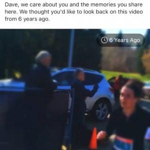 Facebook memory of run