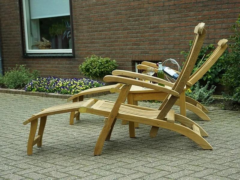 Britannia deckchair teakhout