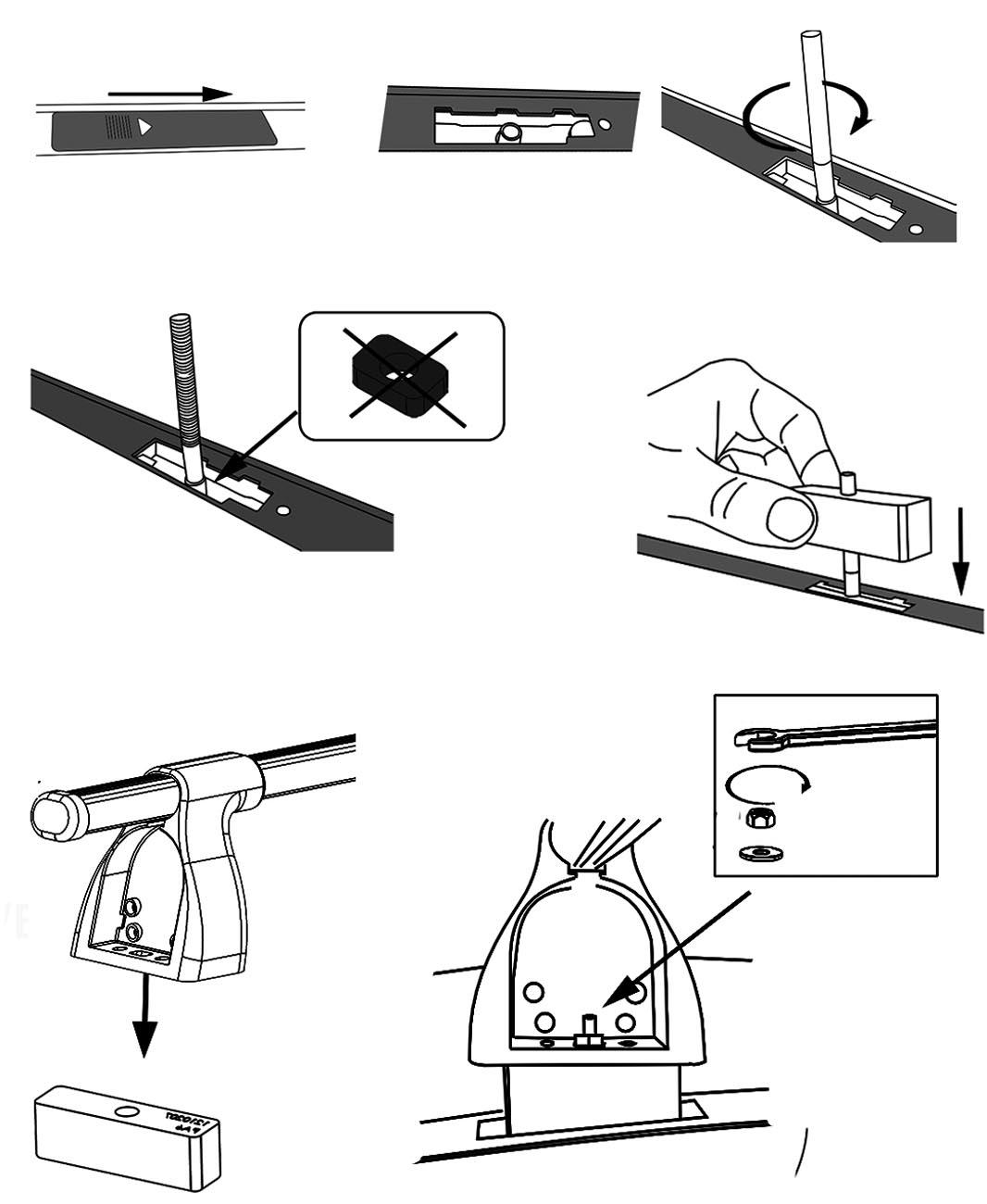 Aurilis Dachträger Easy One für Mitsubishi Lancer evo X (4