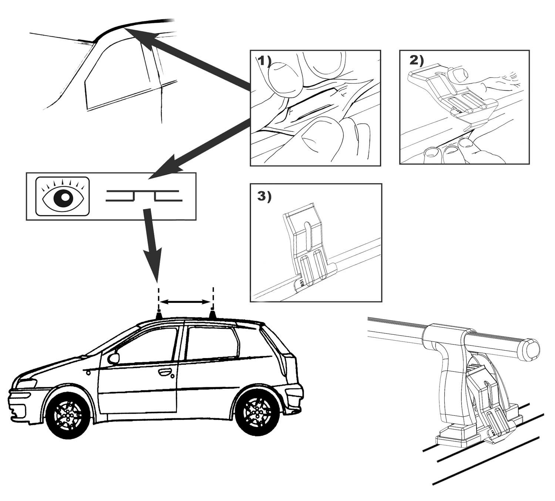 Aurilis Baca Easy One para Fiat Punto II (Hatchback 3