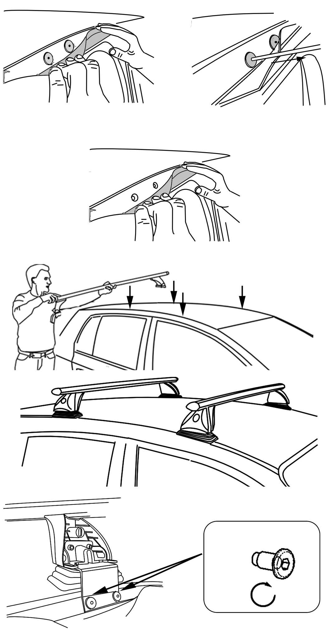 Roof Bars aurilis Original Renault Grand Mode ( HATCH 5