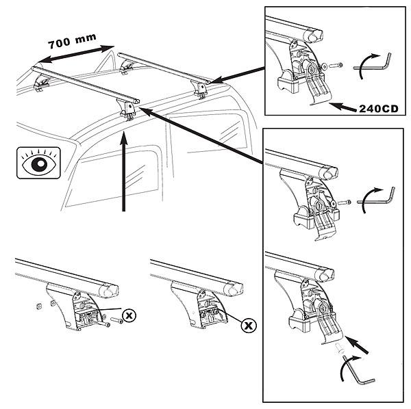 Baca Aurilis Original Seat Ibiza III (Hatchback 5 Puertas