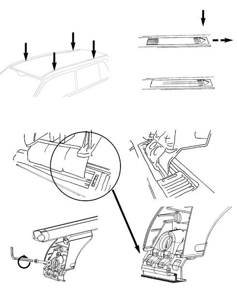 Dachträger AURILIS ORIGINAL Opel Kadett E (3/5 Türer) 84