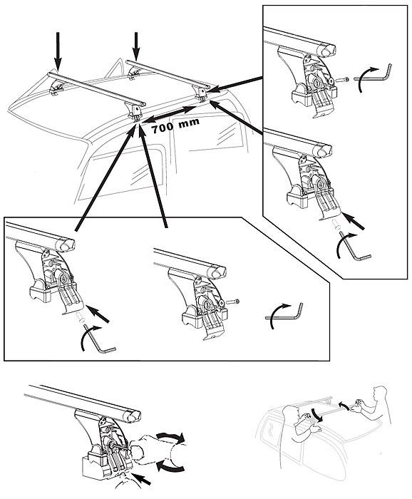 Portapacchi VDP Original Fix&Slide Volkswagen VW POLO