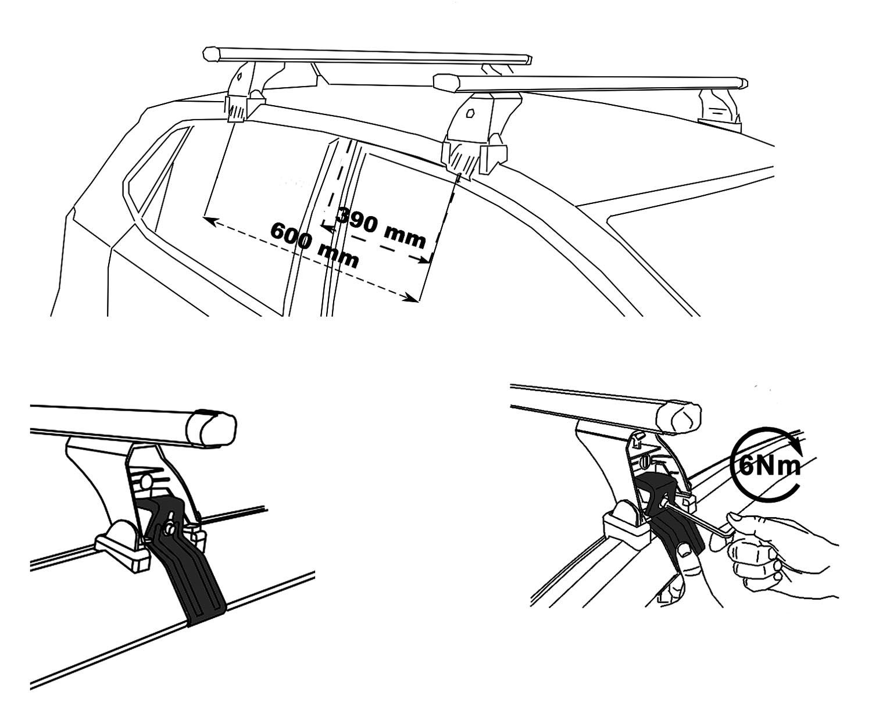 roof rack VDP Original Fix&Slide Nissan Juke Hatch 5 Door