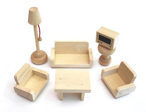 Freda Puppenmbel Puppenhausmbel aus Holz 28 Teile