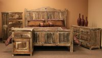 Von Furniture | Minimized White Wash Rustic Bedroom Set