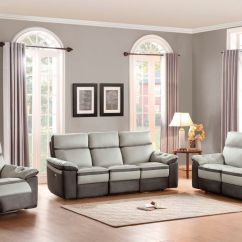 Reclining Leather Living Room Furniture Sets Wall Cabinet Von Otto Set