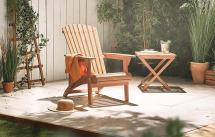 Adirondack Garden Patio Chair Hardwood Vonhaus