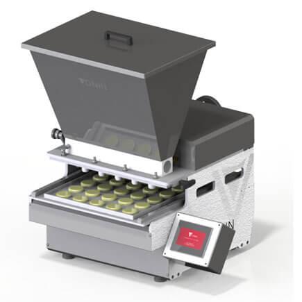 Simulação Máquina dosadora DV5 dosando massa pastosa