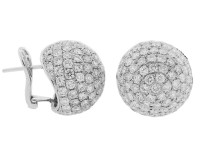 Celebrity Style 10ct Pave Diamond Ball 18k Gold French