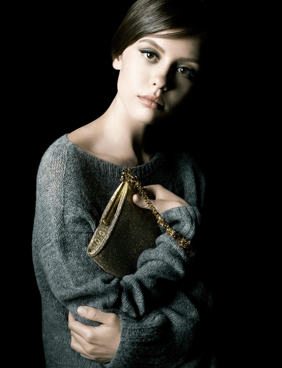 VONsociety: Prada La Femme, Mia Goth © Steven Meisel