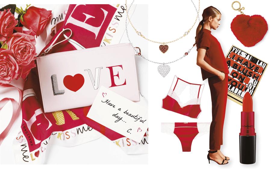 VONsociety: Valentinstag, Love Tasche von Longchamp, Swarovski, Intimissimi, Esprit, Michael Kors, MAC, YSL