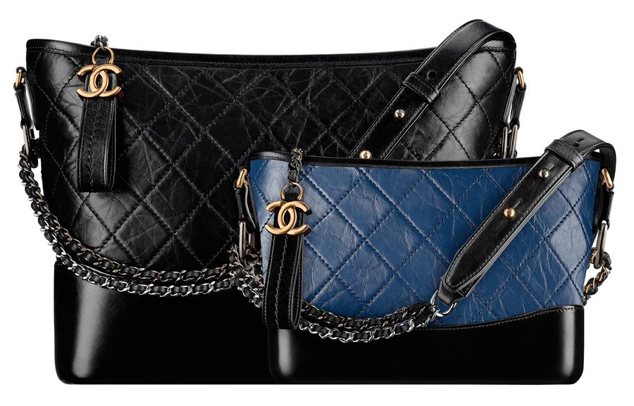 VONsociety: CHANEL'S GABRIELLE, Tasche in schwarz und blau © CHANEL