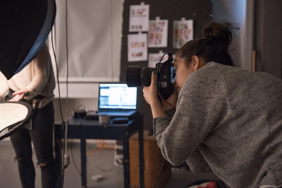 VONsociety: Making of Beauty Shooting Spring Look 2017, Fotografin Katharina Harris