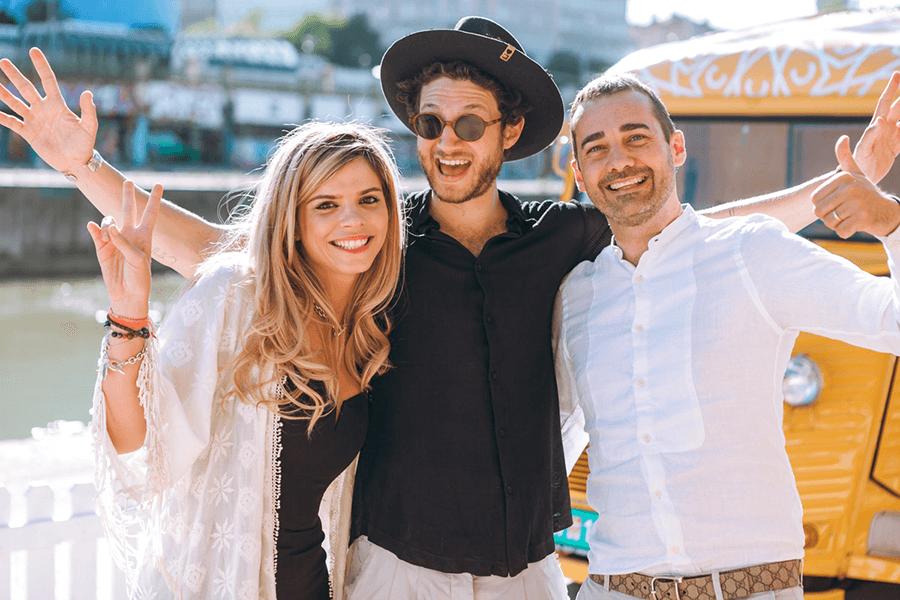 VONsociety: Calzedonia Beach Party 2017 Tel Aviv Beach; Sandra Hernandez, Brand Manager CLZ, Nuriel Molcho, Davide de Rossi © Philipp Lipiarski