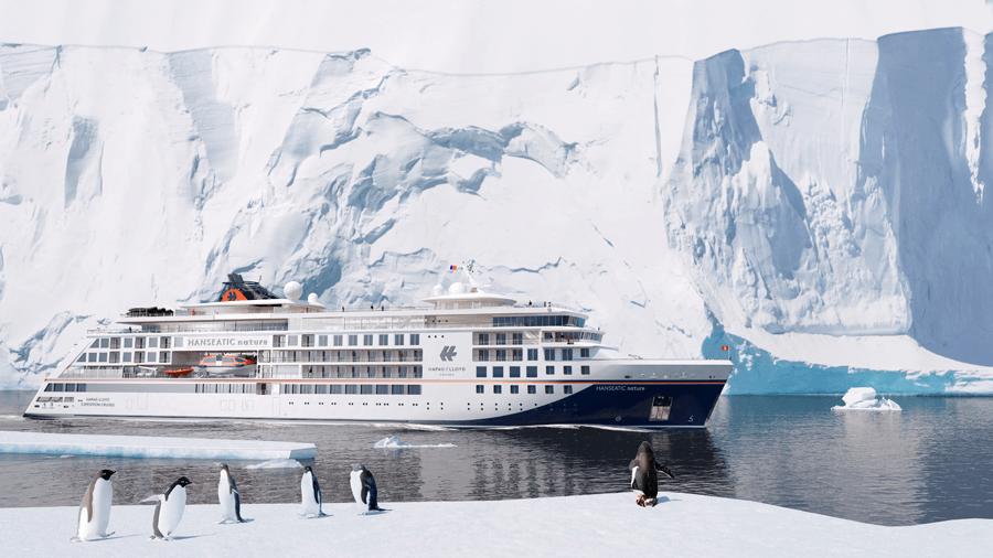 VONsociety: HANSEATIC nature & HANSEATIC inspiration, Ansicht Expeditionsschiff HANSEATIC nature © Hapag-Lloyd Cruises