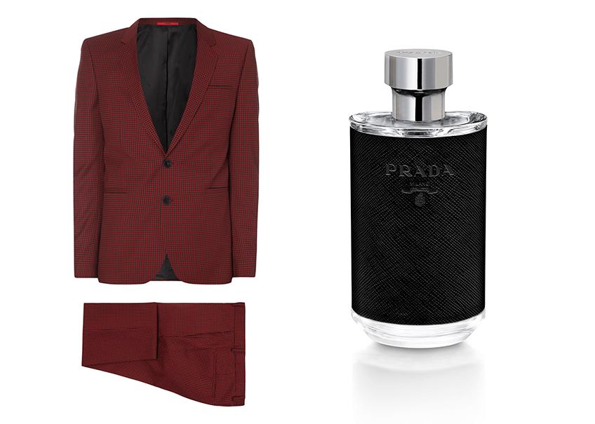VONsociety: Last minute Geschenke für den Liebsten, Anzug Hugo Peek & Cloppenburg, Parfum Prada