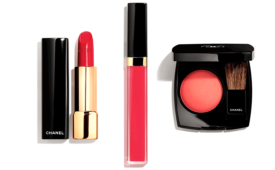VONsociety: CHANEL Makeup Haute Couture Show Spring Summer 2018, ROUGE ALLURE Incantevole, ROUGE COCO GLOSS Poppea, JOUES CONTRASTE Foschia rosa,