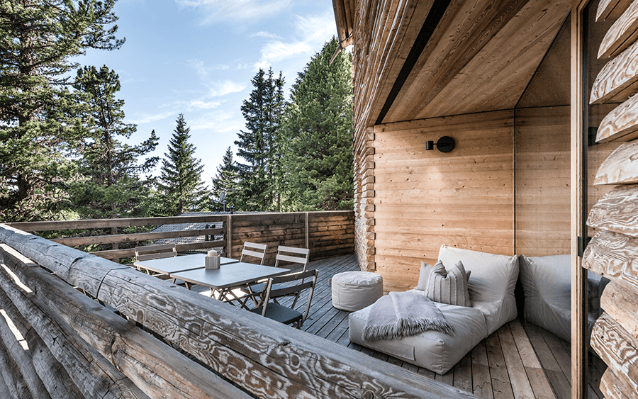 VONsociety: Odles Lodge, Terrasse