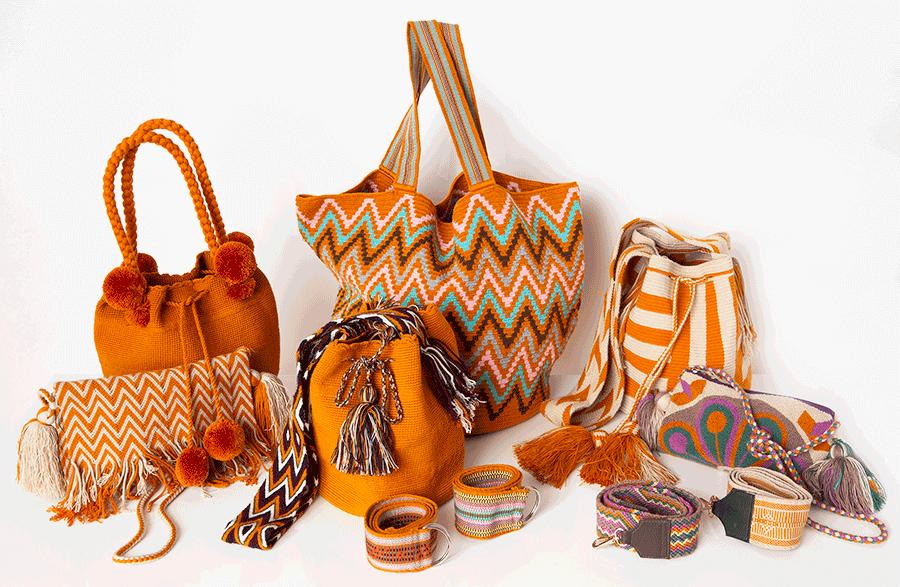 VONsociety: Muttertagsgeschenke von Store & Stories. Eine Auswahl an Beuteltaschen, Mochilas, Gürtel und Tragriemen aus Kolumbien