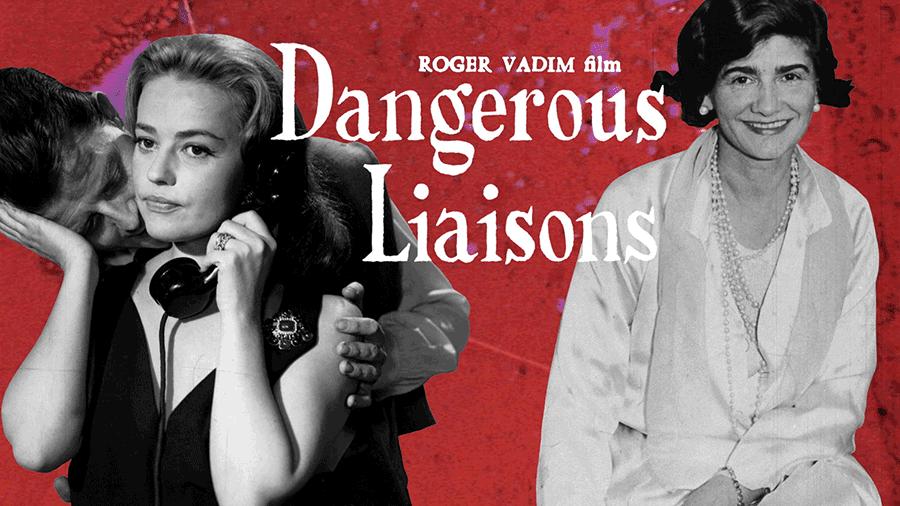 VONsociety: Filmplakat Dangerous Liaisons mit Jeanne Moreau und einem Konterfei von Gabrielle Chanel