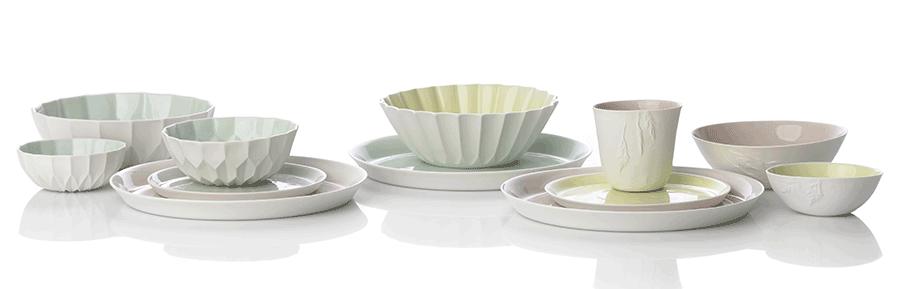 VONsociety: Tableware feinedinge* Serie Pure Ivy in Pastelltönen
