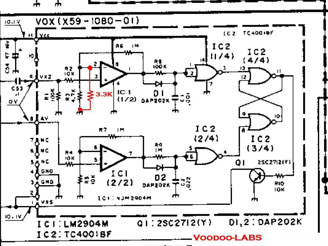 Voodoo Labs Ts 950sdx Vox Sensitivity Mods
