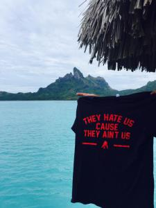 Representing all the way in Bora Bora.