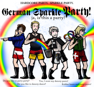german sparkle party