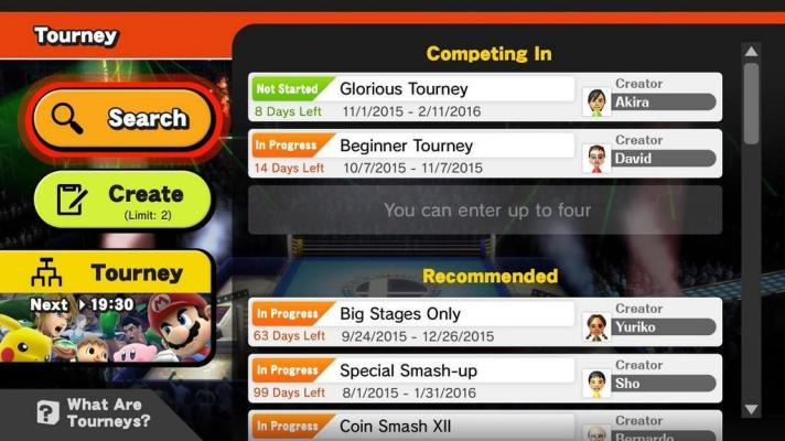Online tournaments headed to Super Smash Bros. for Wii U