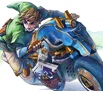 Link's new ride in the first Mario Kart 8 DLC is familiar