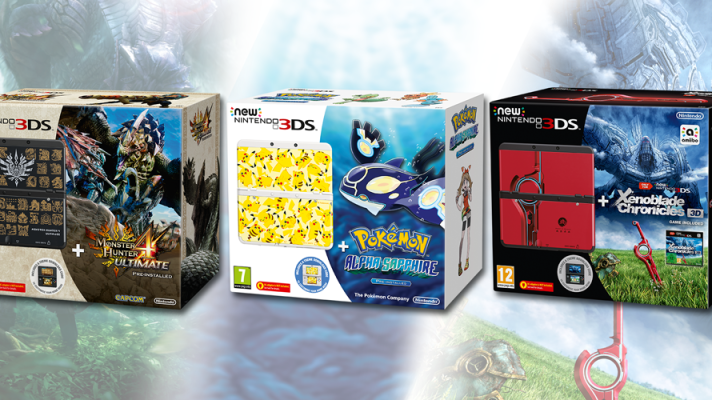 Three New New 3DS bundles heading to the Europe