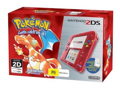 Nintendo 2DS Special Edition bundle (Pokémon Red Version)