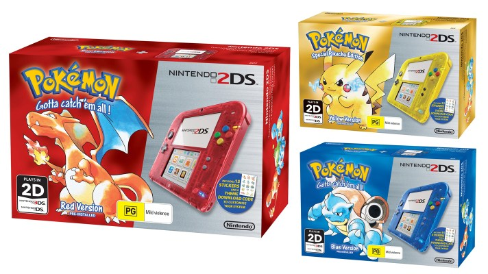 Pokemon Red, Blue and Yellow bundles set for Australian release