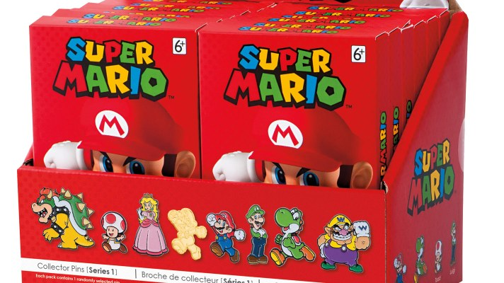 Super Mario Collector Pins coming to stores in December