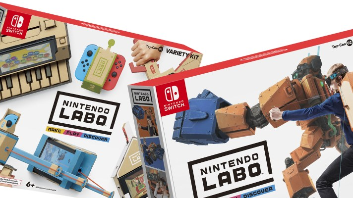 The Variety, Robot, and Vehicle Nintendo Labo kits are 50% off at National Geographic