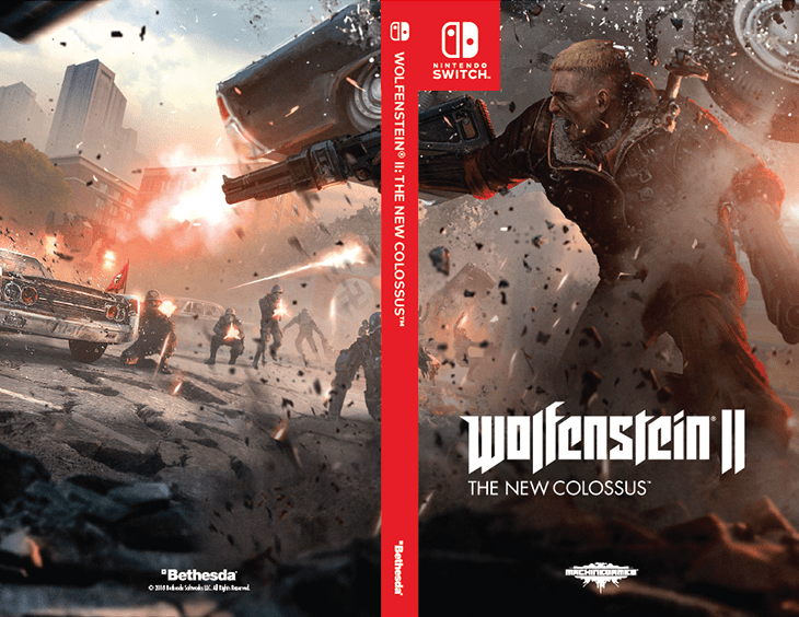 graphic regarding Printable Video Game Covers identify Bethesda selling remedy addresses for Wolfenstein II upon