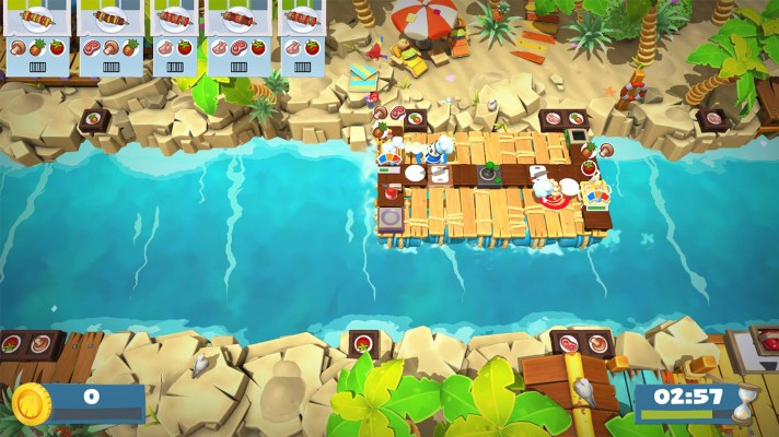 Shoot your friends in Overcooked 2's fun new tropical resort DLC