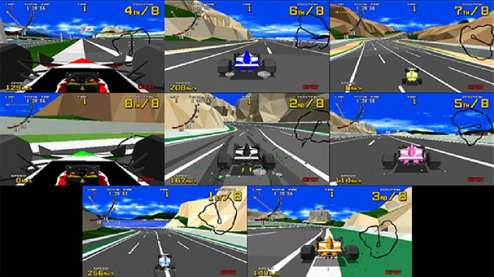 Sega Ages: Virtua Racing adds online play and 8-player splitscreen