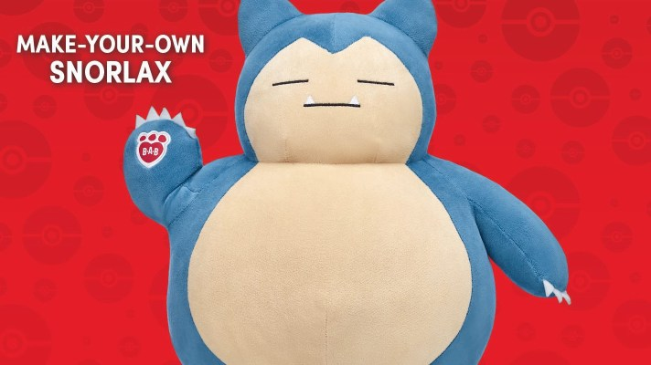 Build-A-Bear adds Snorlax to its lineup