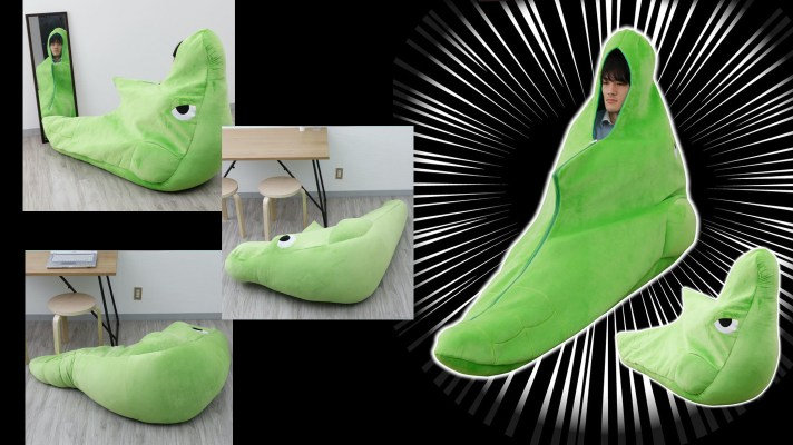 Get your pod on with this human-sized cushioned Metapod pod