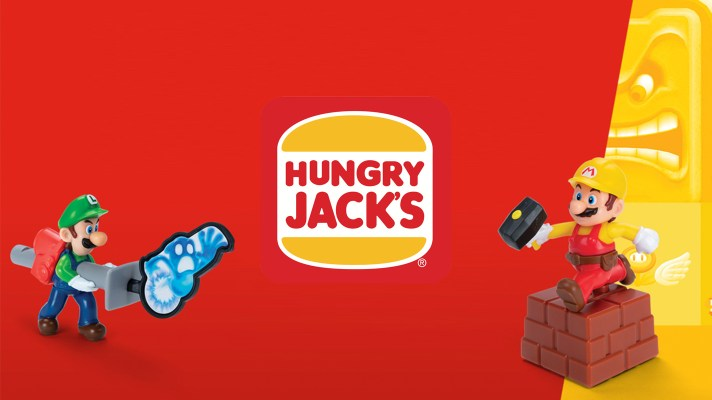 Hungry Jacks has Nintendo toys to collect including Mario, Zelda, Splatoon and Animal Crossing