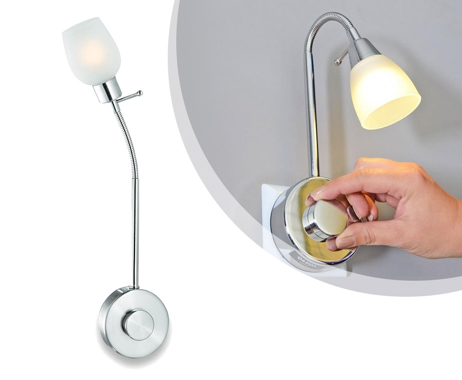 LED Stekkerlamp Met Flexibele Zwanenhals En Dimmer!