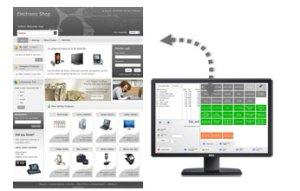 kassa software webshop koppeling