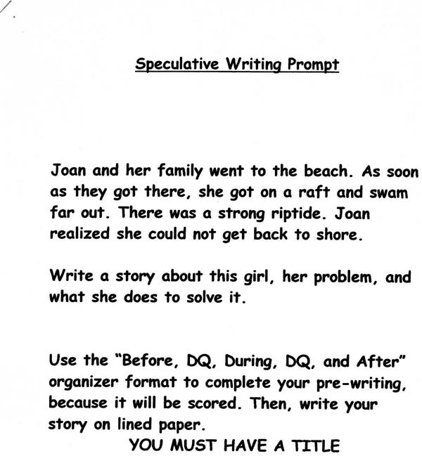 Balducci-Brown, C. / Speculative Writing Prompts