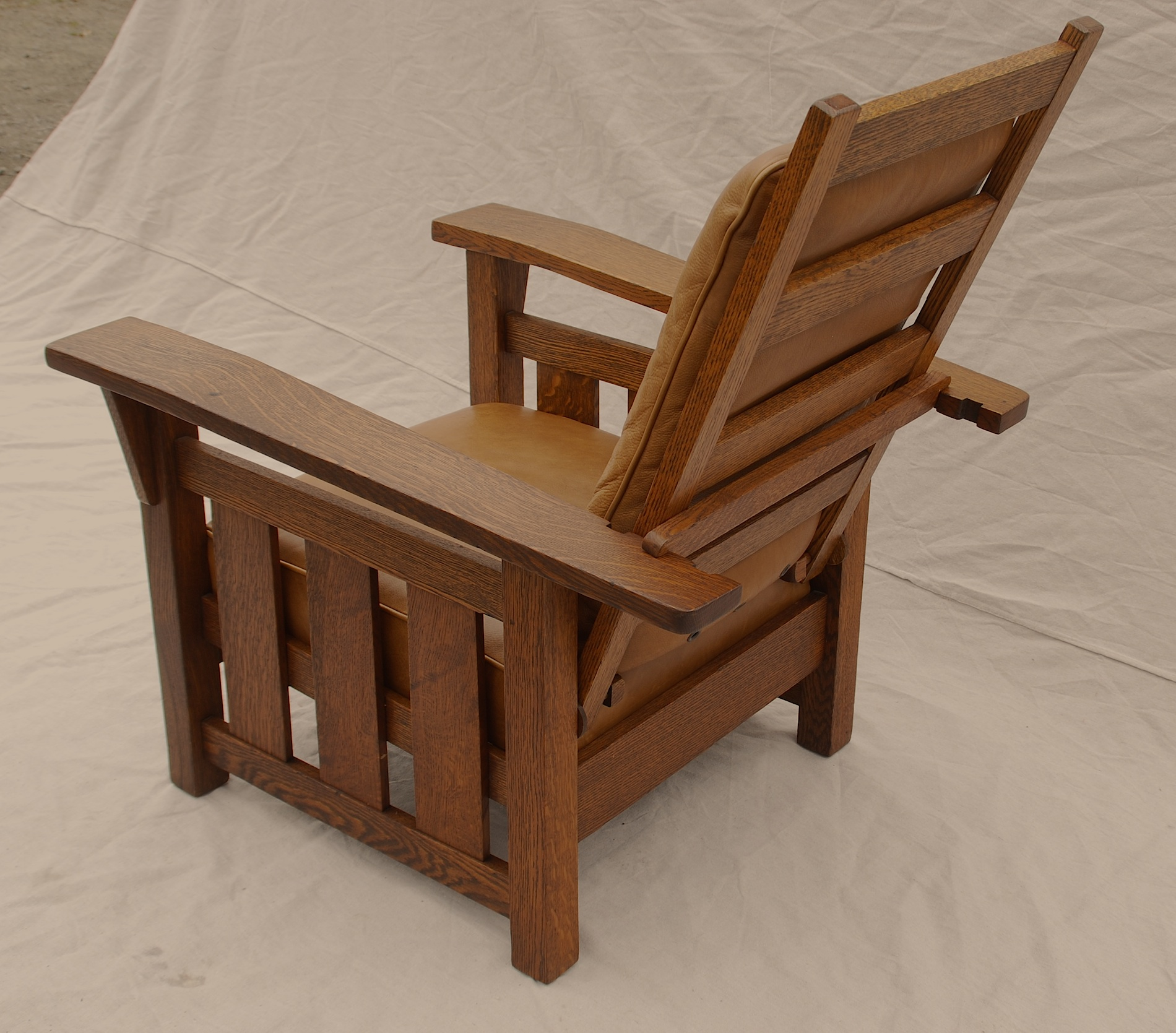 leather chair cushions inexpensive accent chairs voorhees craftsman mission oak furniture stickley era